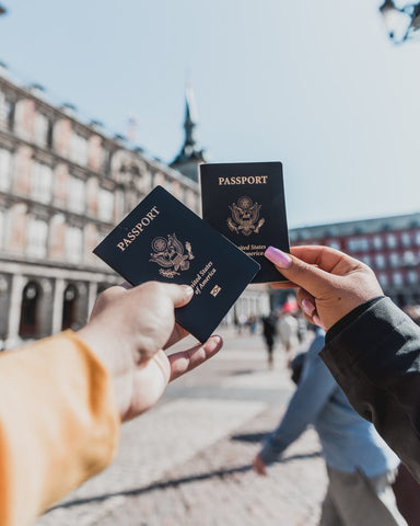 passports being used for sustainable travel