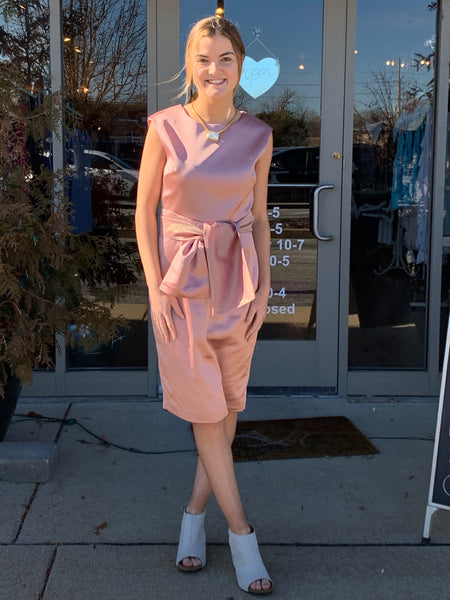 Camilyn Beth Malia Dress in Blush