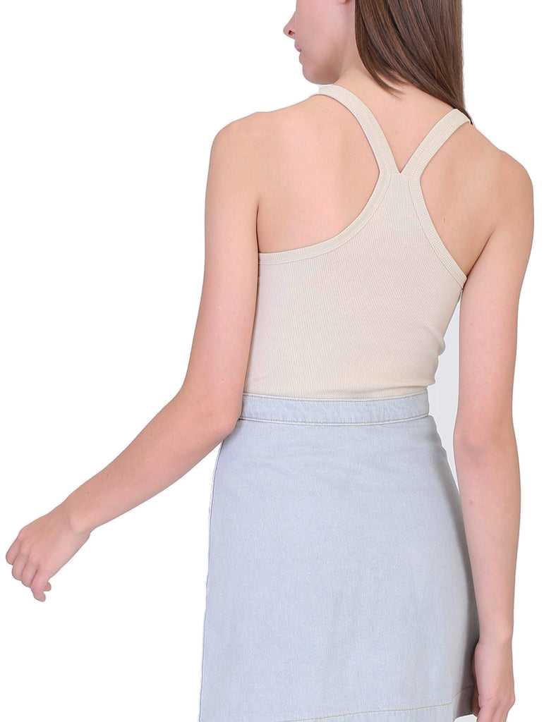 Women's Basic Scoop Neck Sleeveless Racerback Rib Tank Top