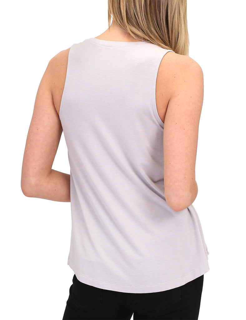 Women's Relaxed Lightweight Casual Loose Fit Round Neck Basic Tank Top