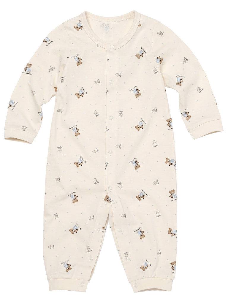 Infant Long Sleeve Front Snap Closure Onsie Premium 100% Organic Cotton 3M-12M