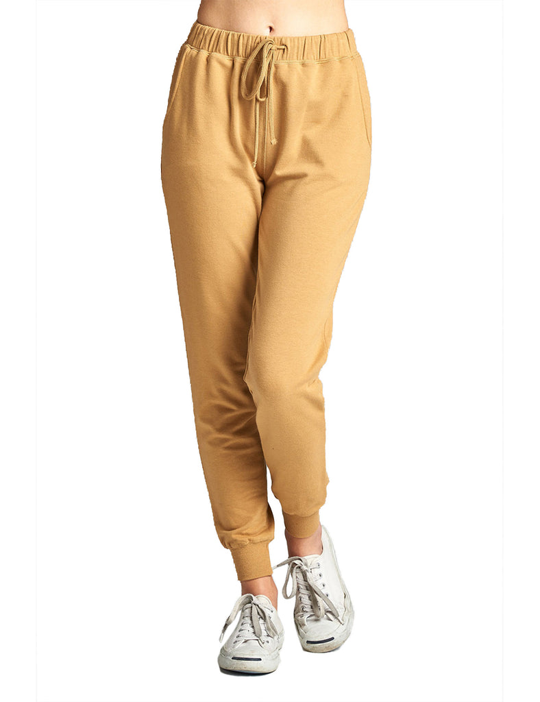 Womens Two Tone French Terry Jogger Pants Plus Size (S-3X)