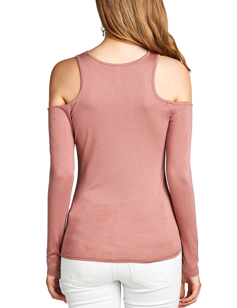 Womens Cold Should Long Sleeve Lightweight Stretchy Shirts Top Tee