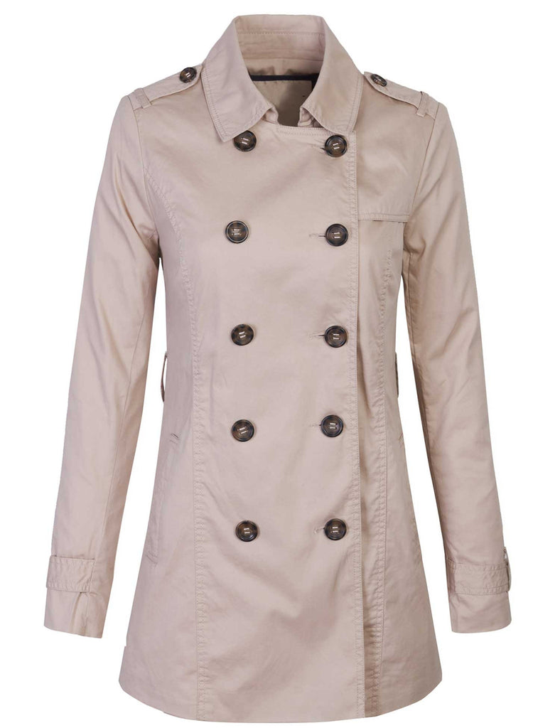 Double Breasted Trench Coat Jacket