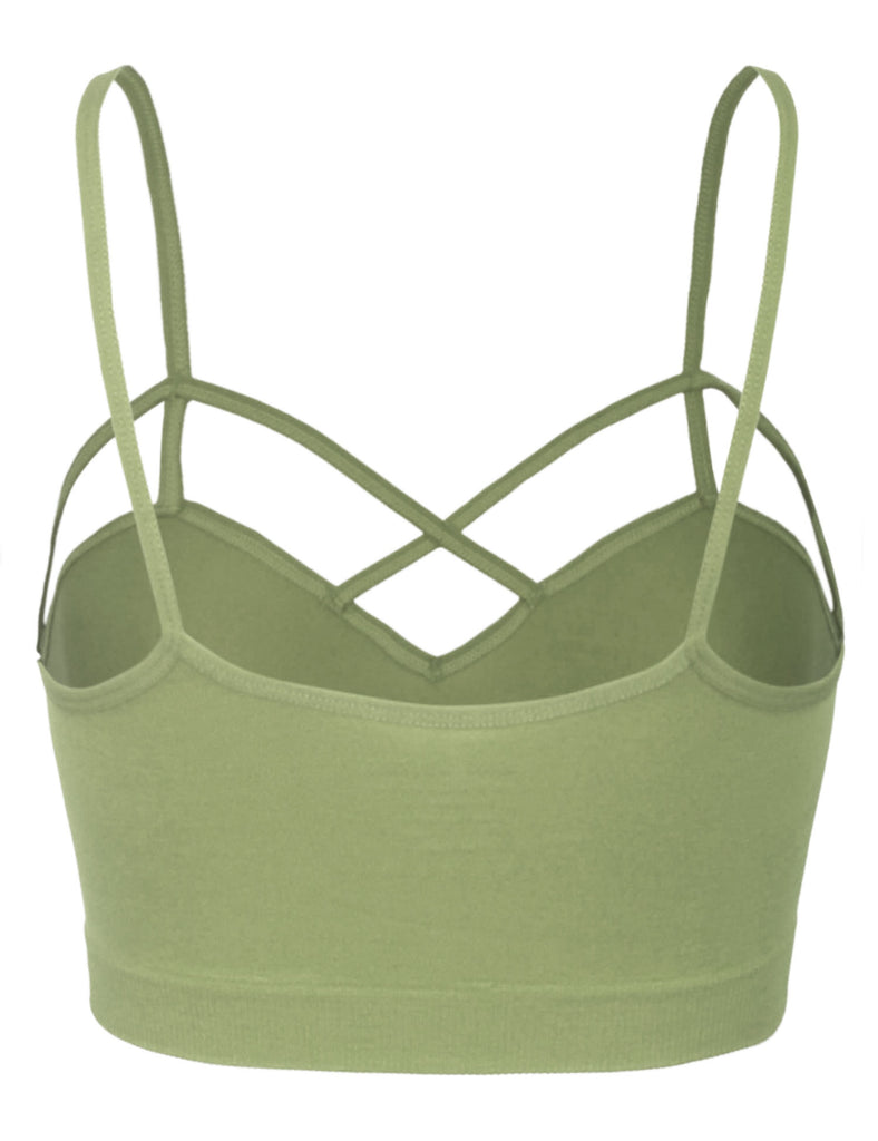 Women's Seamless Front Criss-Cross Strap Sports Bralette