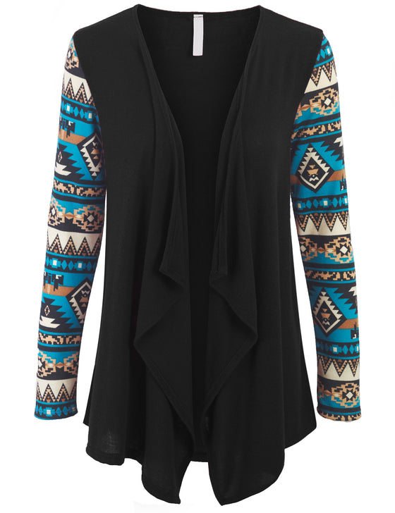 [Clearance] Aztec Sleeve Open Knit Cardigan Made in USA