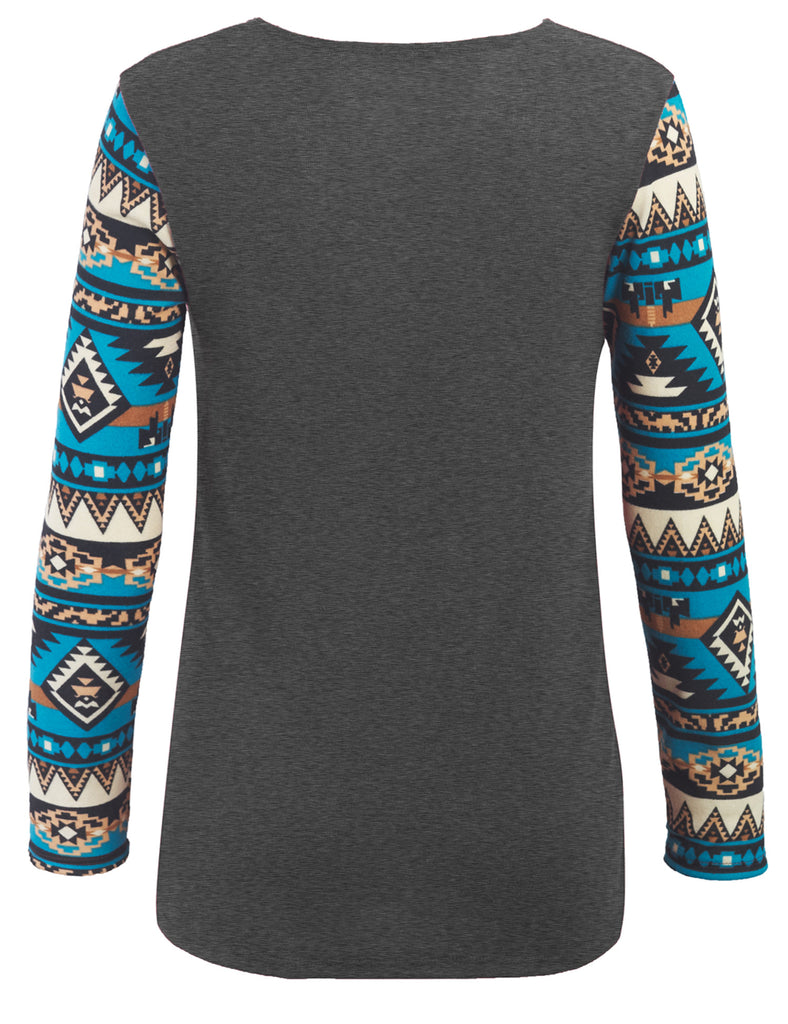 Aztec Sleeve Open Knit Cardigan