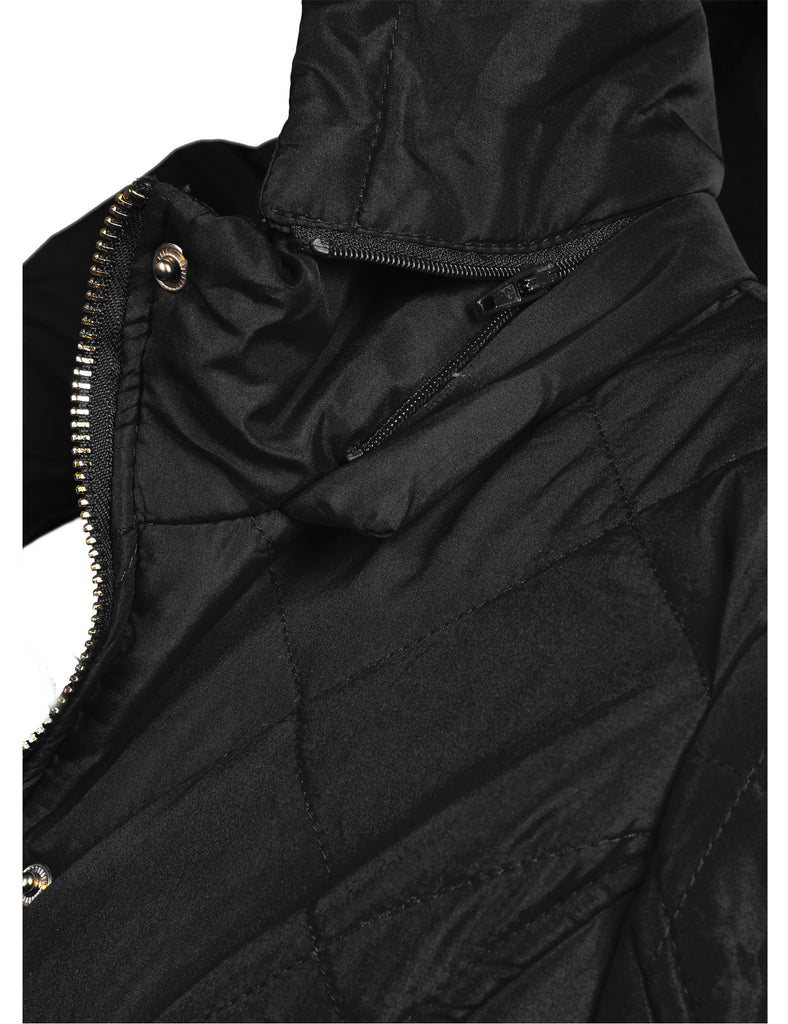 Lightweight Quilted Jacket with Detachable Hood