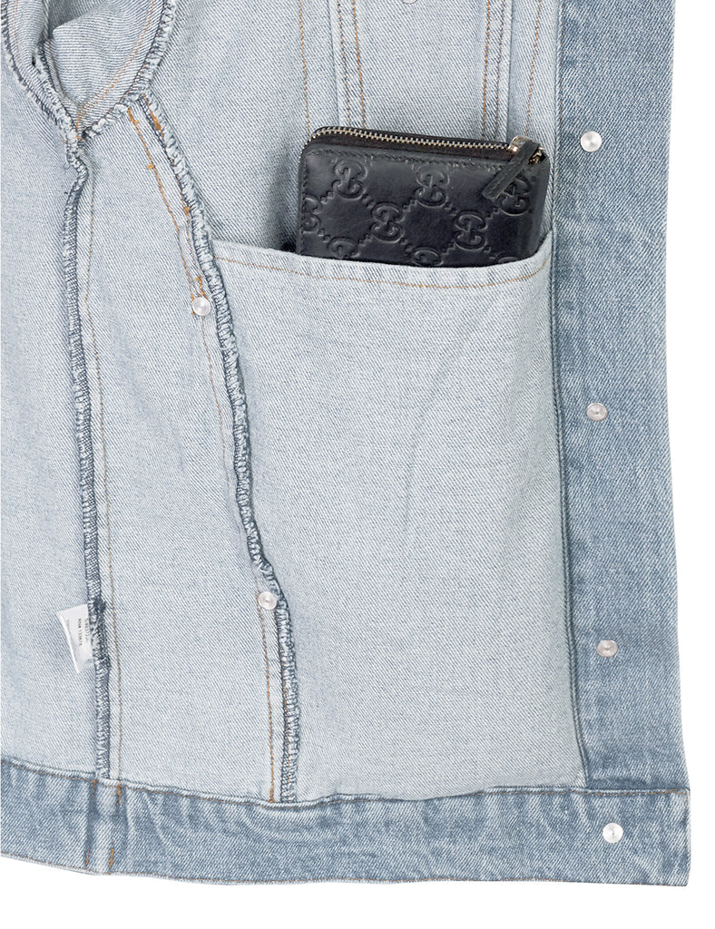Distressed Boyfreind Denim Jacket Loose Fit