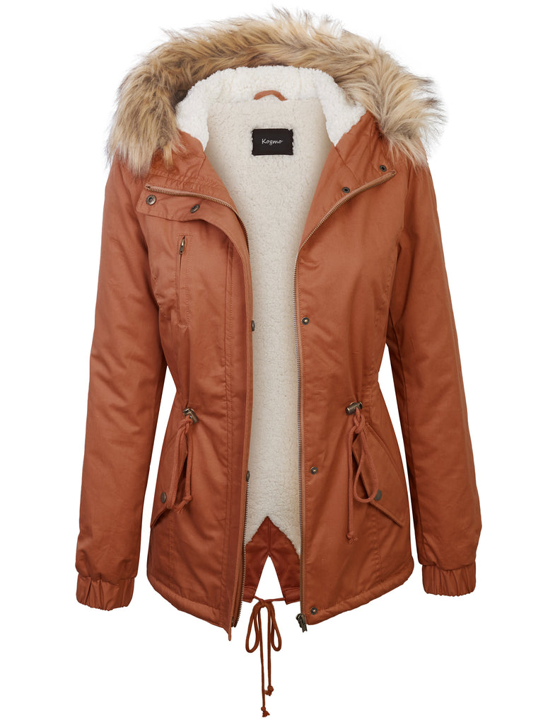 Womens Parka Fur Lined