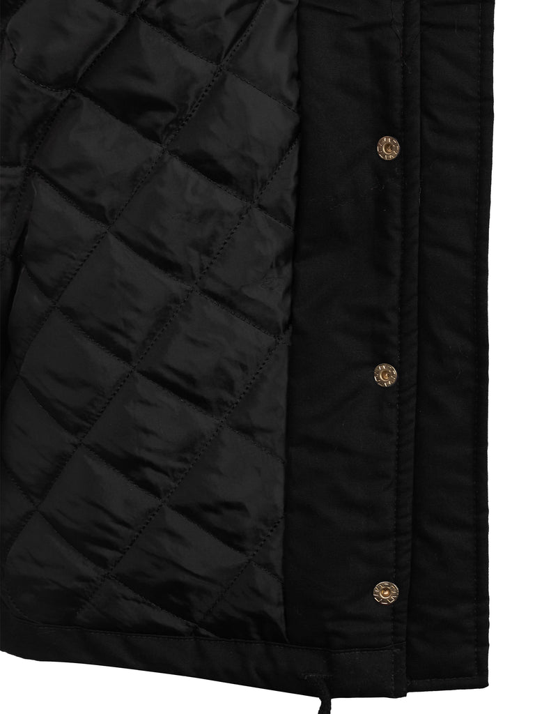 KOGMO Women's Zip Up Anorak Quilt Lined Jacket with Leopard Lining Hoodie