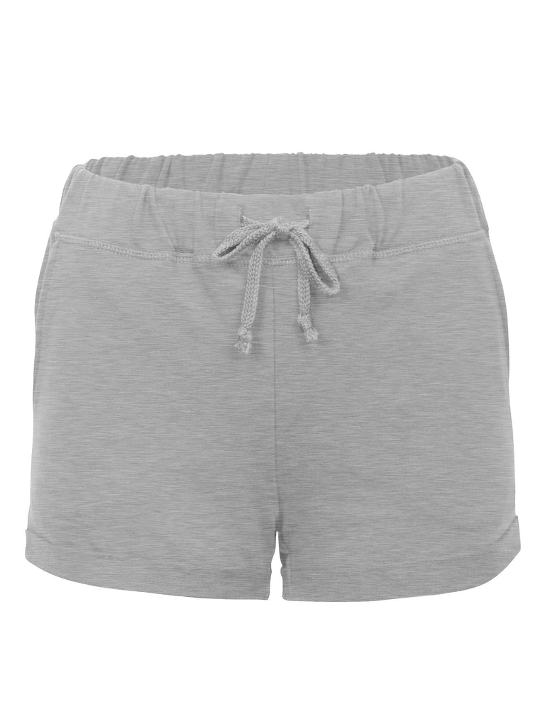 KOGMO Womens Casual Summer Comfy Cotton Shorts With Elastic Waist Band