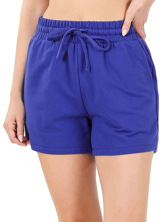 KOGMO Womens Casual Comfy French Terry Cotton Shorts (S-3X)