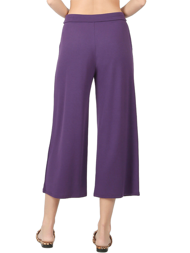KOGMO Womens Capri Comfy Lounge Pants with Drawstring Waist (S-XL)