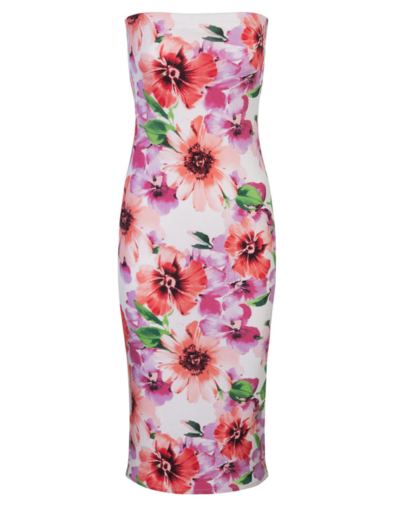 Floral Printed Sexy Mini Tube Dress