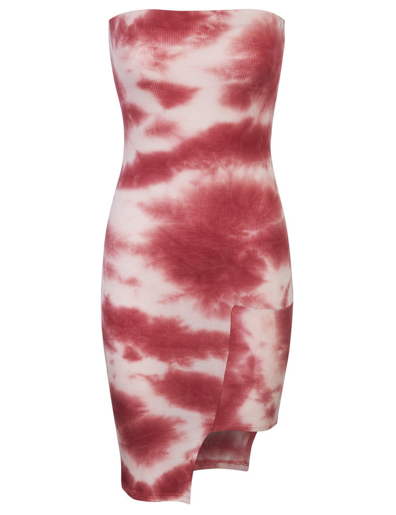 Tie Dye Detailed Mini Tube Dress