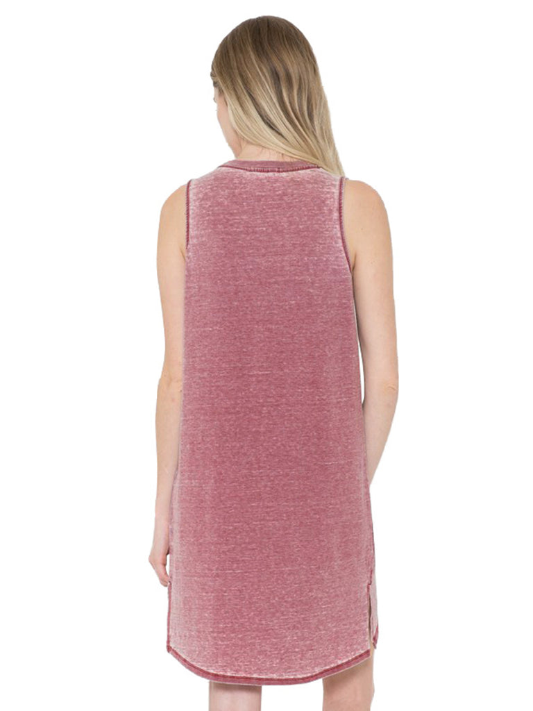 KOGMO Womens Sleeveless Basic Washed Comfy Dress