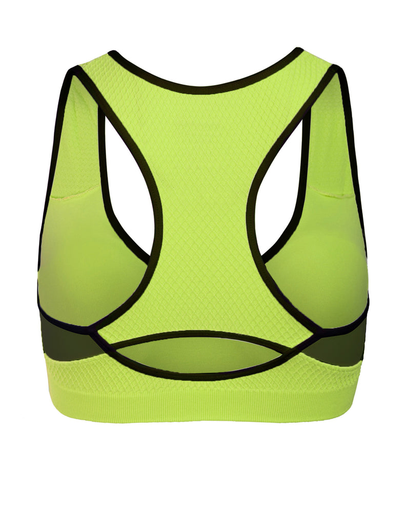 Workout Full Support Racerback Sports Bra Top