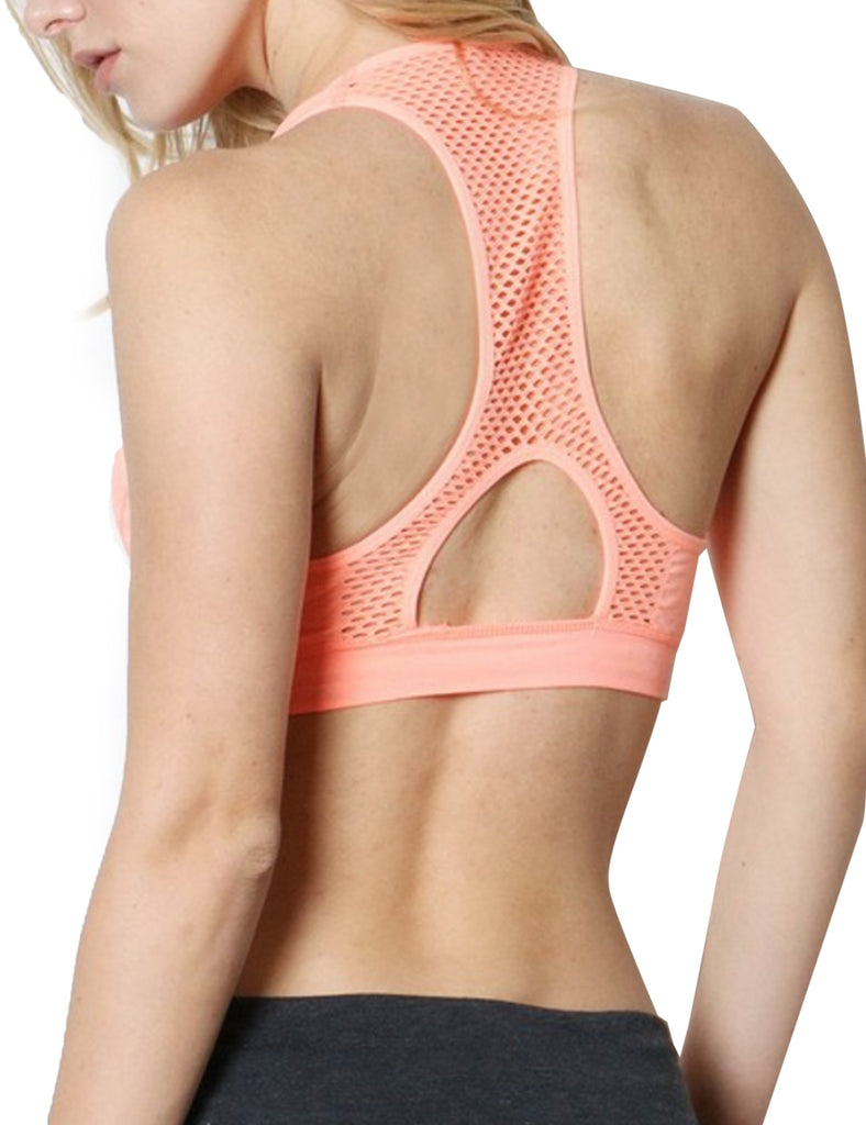Workout Running Gym Full Support Racerback Sports Bra Top
