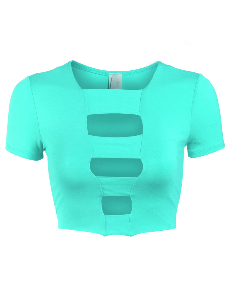 [Clearance] Womens Cut Out Fashion Crop Top
