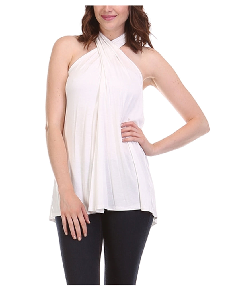 [Clearance] Womens Sleeveless Tunic Tank Top with Key Holes