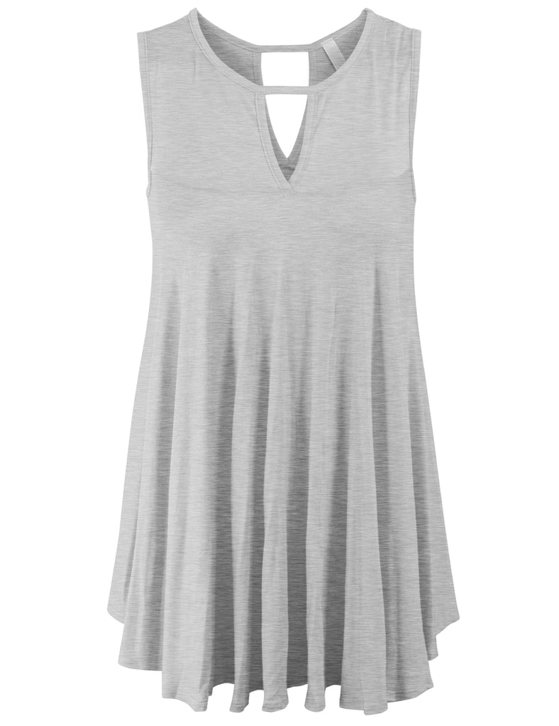 [Clearance] Womens Cross Straps Neck Open back Sexy Tunic