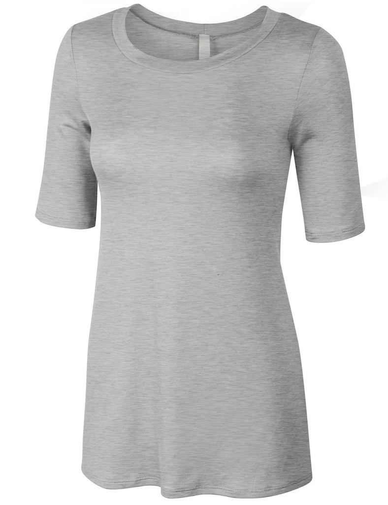 Short Sleeve Basic Loose Fit Soft French Terry Tshirt Top