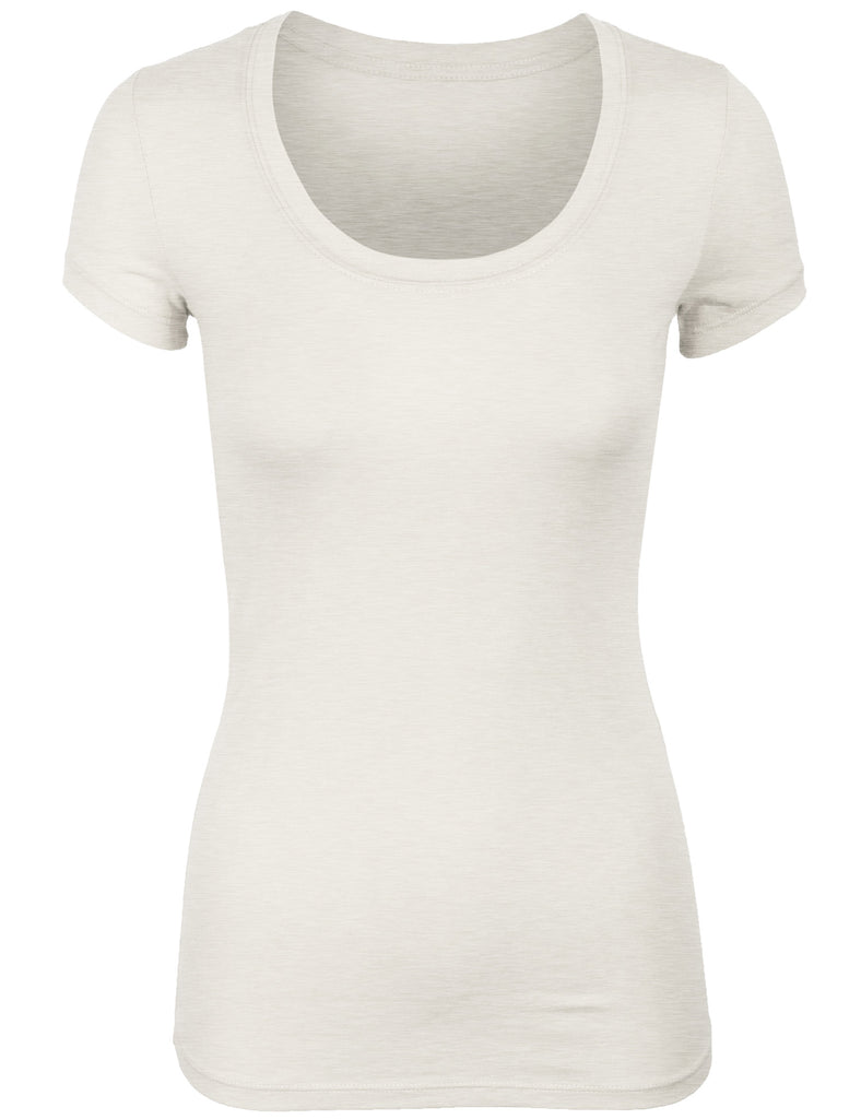Women's Short Sleeve Basic Plain Round Neck Cotton T-Shirt Top