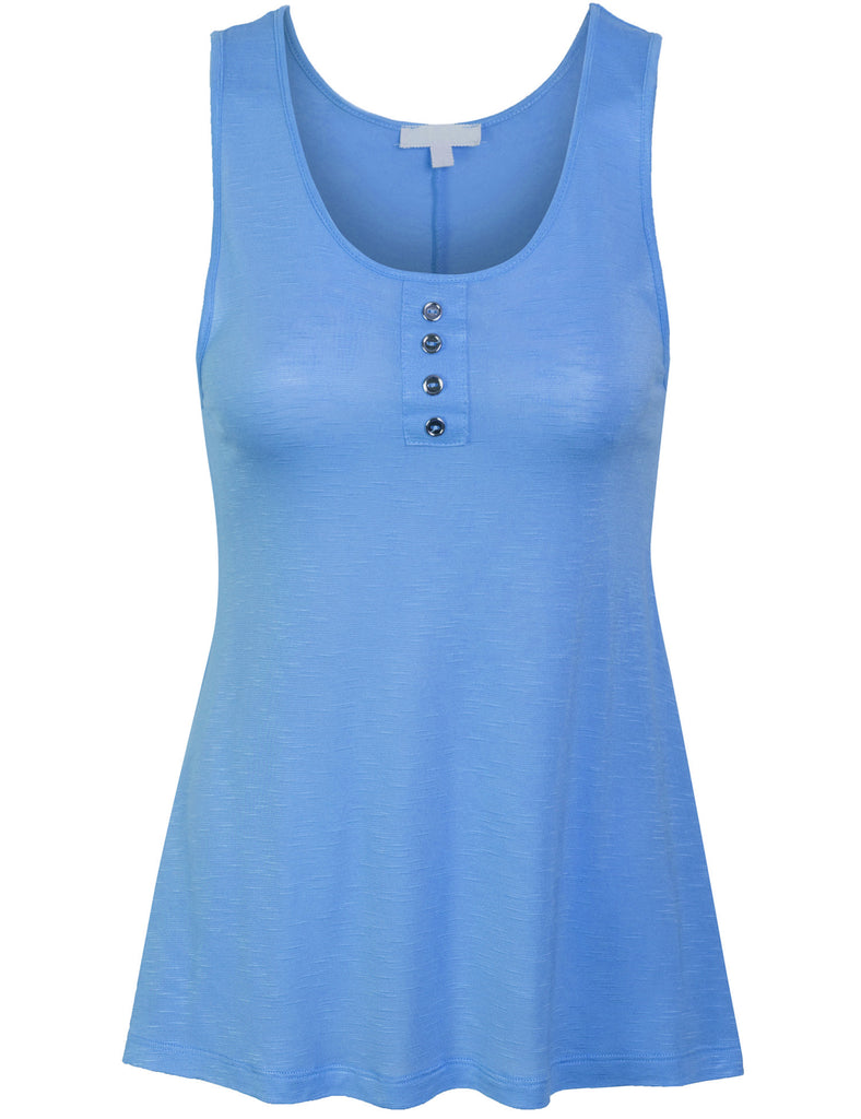 [Clearance] Women's Sleeveless Summer Casual Tank Top with Button Detail
