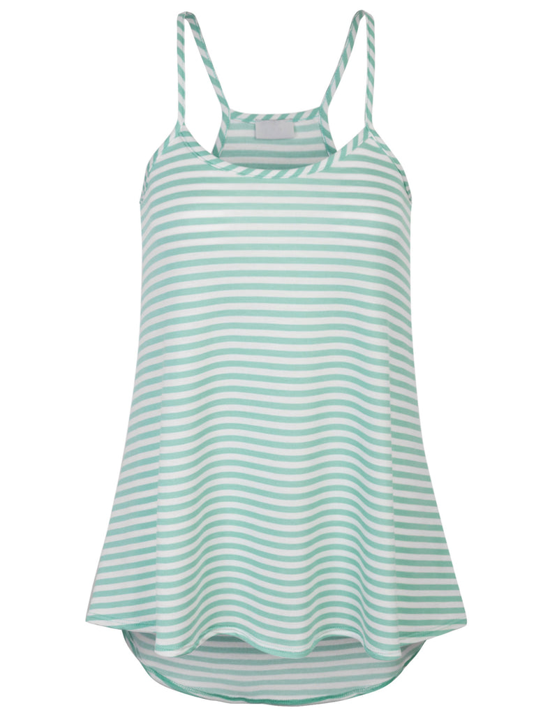 [Clearance] Womens Striped Fashion Tank Top with Spaghetti Strap