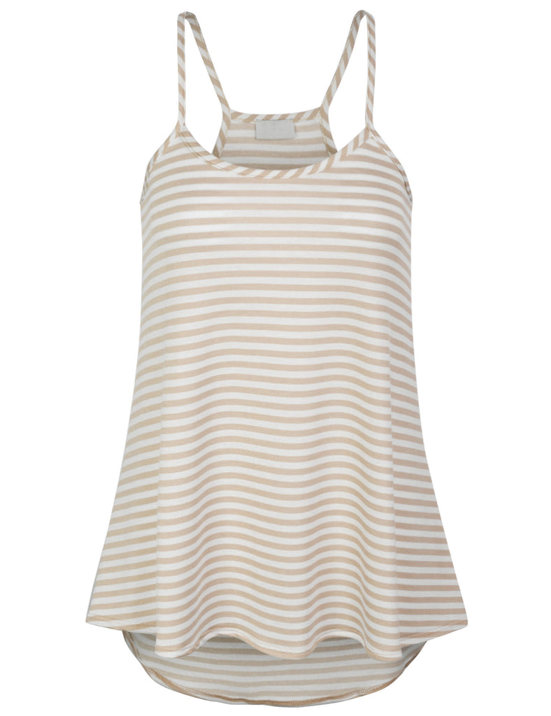 Striped Fashion Tank Top with Spaghetti Strap