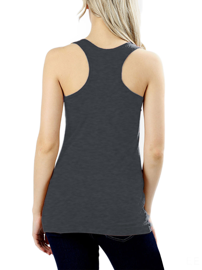 KOGMO Women's Basic Stretchy Cotton Spandex Racerback Tank Top 3-Pack (S-XL)