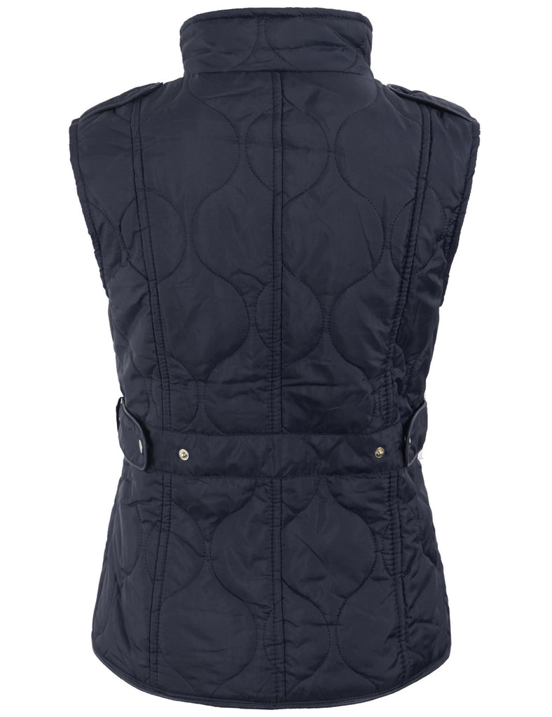 Quilt Padded Fully Lined Lightweight Vest with Hoodie