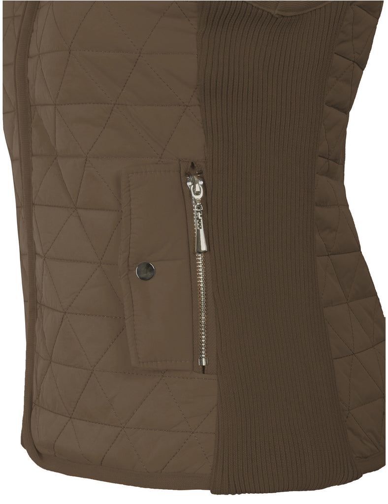 Lightweight Quilted Zip Up Vest