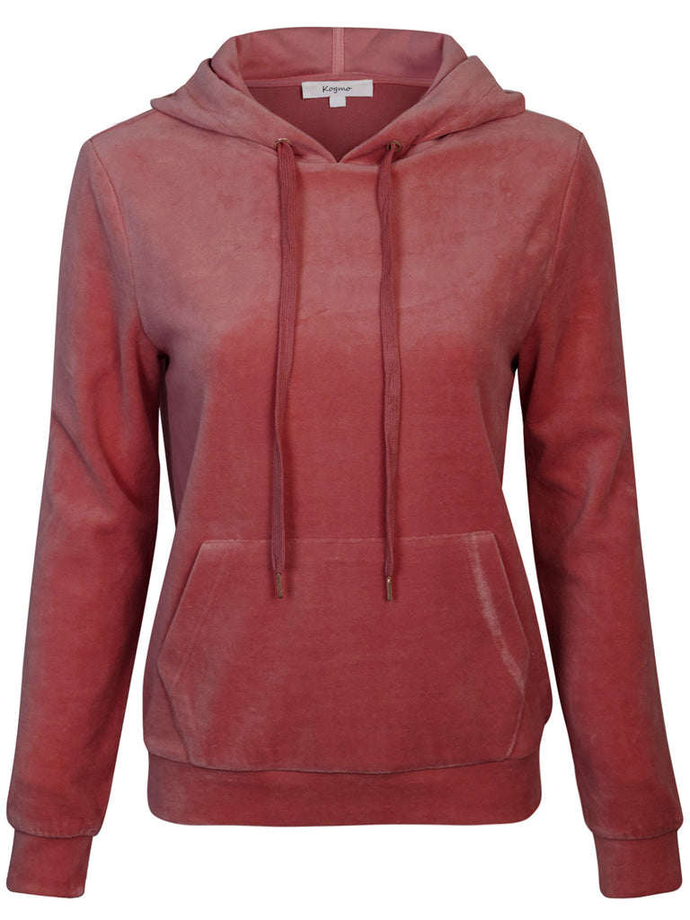 [Clearance] Women's Velvet Hoodie Pullover Sweater