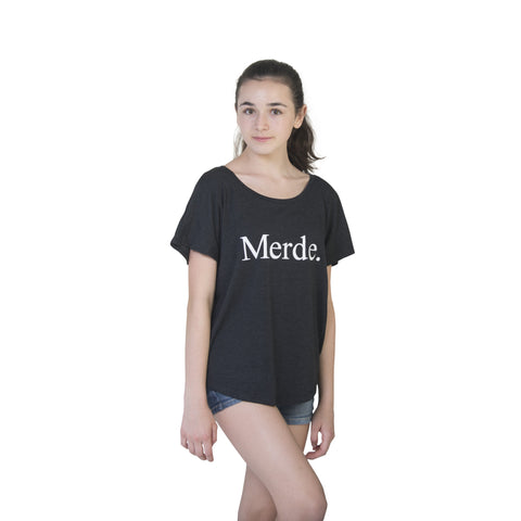 Merde Super Wide Neck T-Shirt