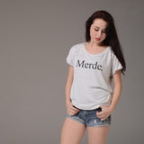 Merde Super Wide Neck T-Shirt - Farina Bodywear