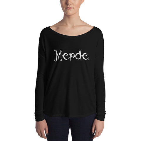 Halloween Merde Edition Ladies' Long Sleeve Tee - Farina Bodywear