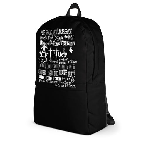 Punkerina Attitude Backpack Black Pocket - Farina Bodywear