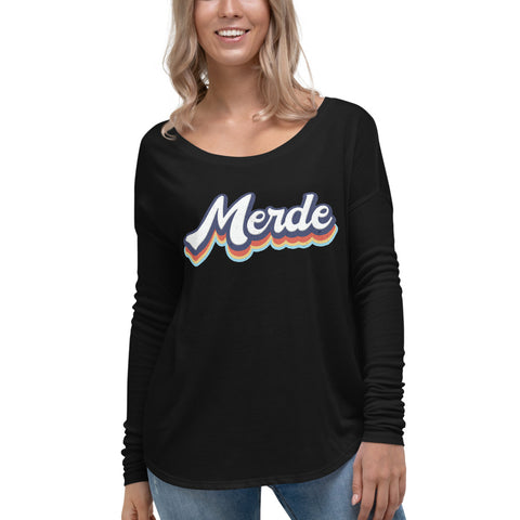 Retro Merde Ladies' Long Sleeve Tee