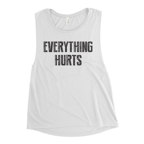 Ladies' Everything Hurts Flowy Tank - Farina Bodywear