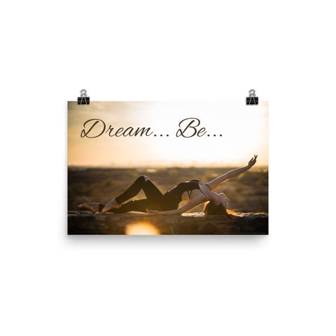 Dream... Be... Pointe Ballet Poster - Farina Bodywear