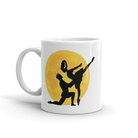 Halloween Pas de Boo Frankenstein and Bride Ballet Mug - Farina Bodywear