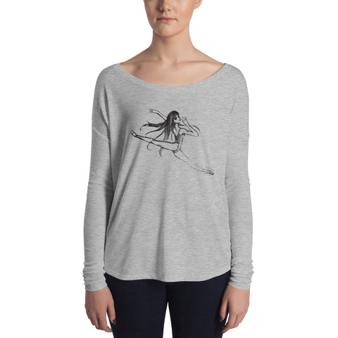 Animé Ballerina Ladies' Long Sleeve Tee - Farina Bodywear