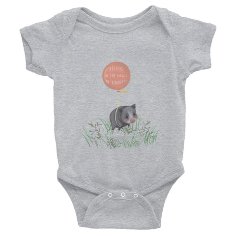 For Charity : Infant Bodysuit : Believe in the Magic of Kindness : Mino Valley - Farina Bodywear