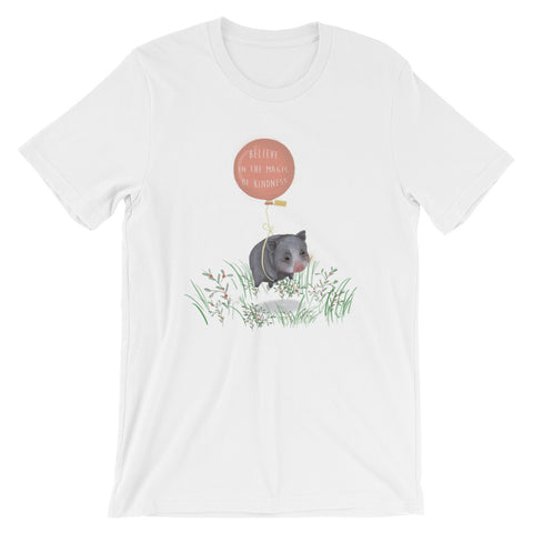 For Charity : Short-Sleeve Unisex T-Shirt: Believe in the Magic of Kindness : Mino Valley - Farina Bodywear