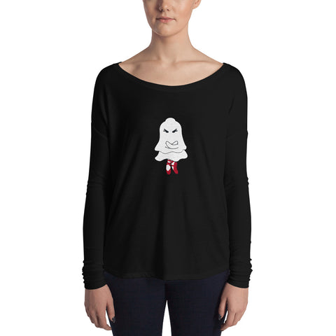 Ghostly Wili Spirit Ladies' Halloween Long Sleeve Tee - Farina Bodywear
