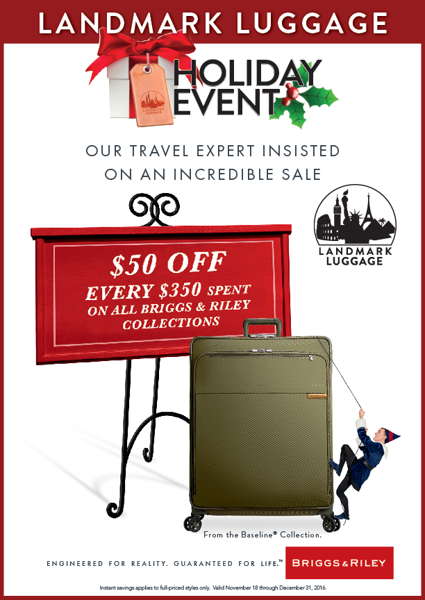Landmark Luggage Holiday Event