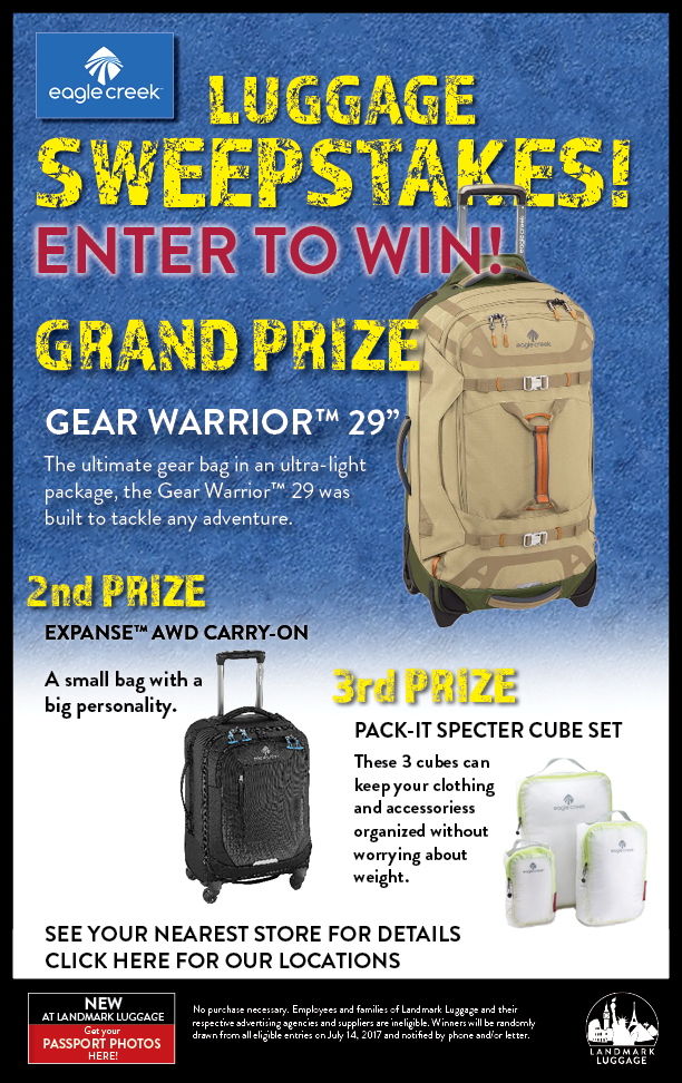 Landmark Luggage Eagle Creek Luggage Sweepstakes
