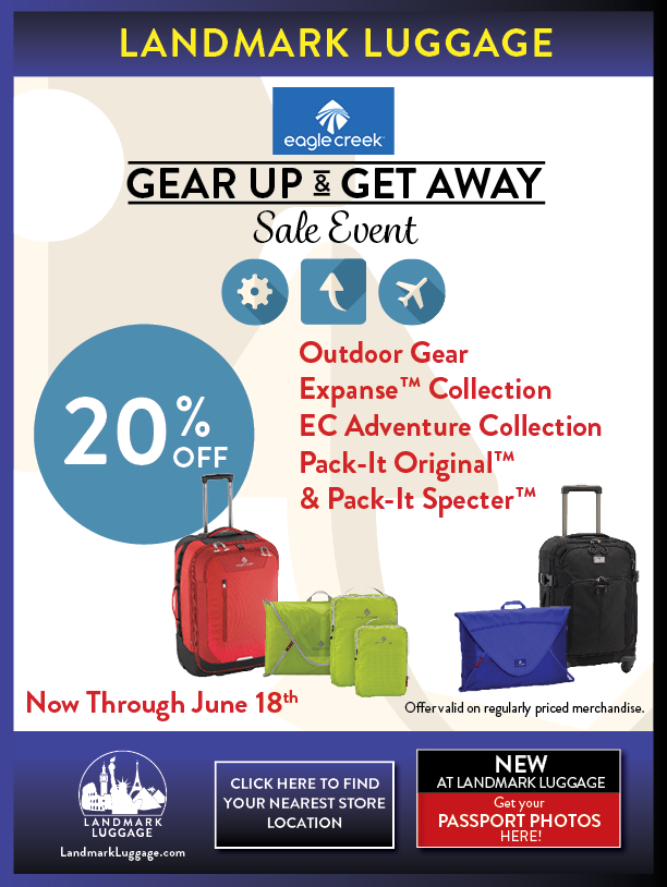 Eagle Creek Gear Up & Get Away Sale Event